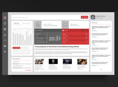 News crawler UI design