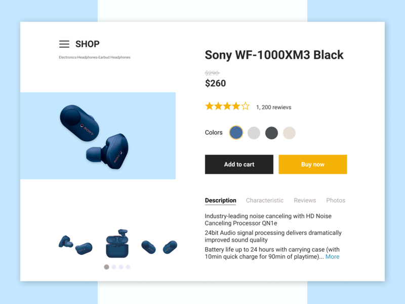 Daily UI/ E-Commerce Shop (Single Item)/ 012 design buy card ui web