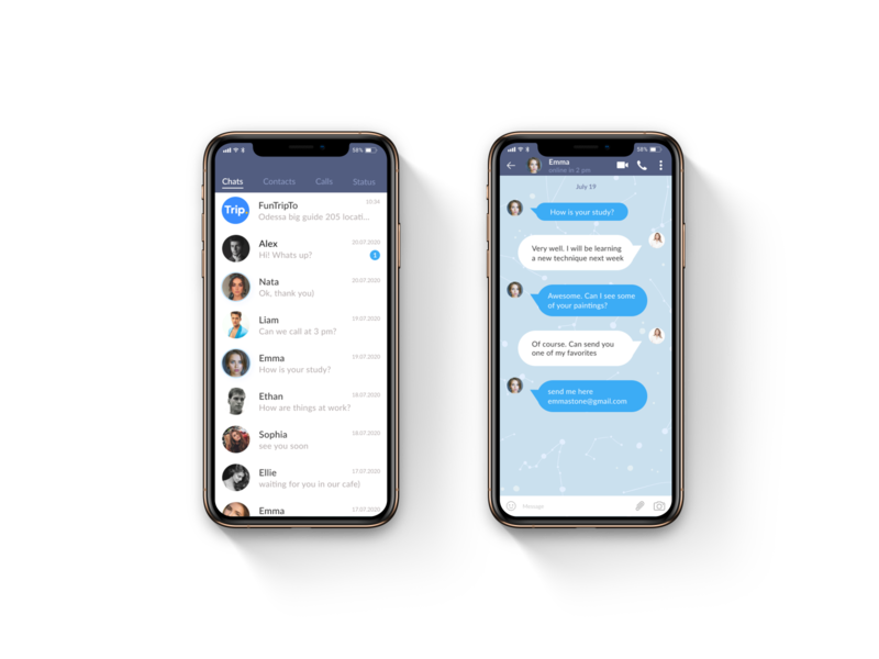 Daily UI /Direct Messaging/ # 013 chat mobile message ui design web
