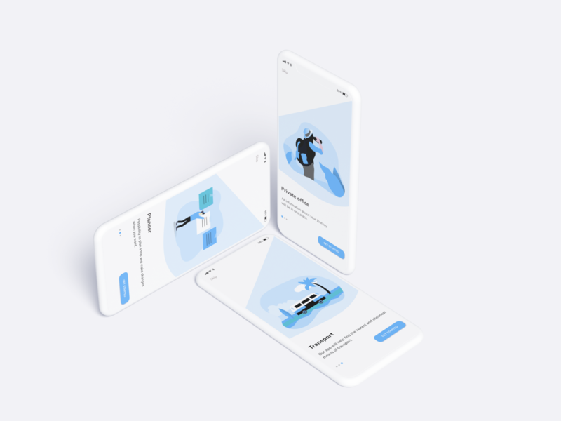 Daily UI/ Onboarding - #023 travel grey white blue app onboarding onboarding ui mobile ui design web