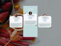 Testimonials - #039 review profile icon white food figma ui mobile design web testimonials