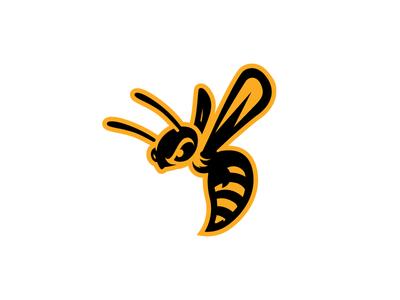 Hornet Logo Concept animal logo bee logo sports sports identity sports design sports logo hornet wasp bee illustration mark logo