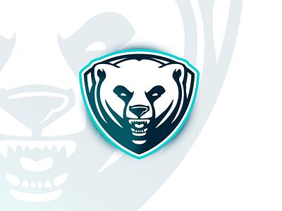 Polar Bear polar bears team bear polar bear sports mascot sports logo shield crest logo