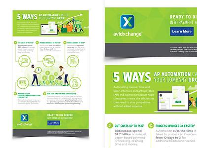 AvidXchange Infographic vector graphicdesign digital poster typography illustration design infographic