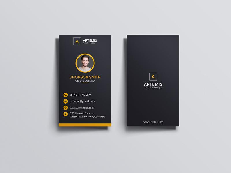 Vertical Clean Business Card