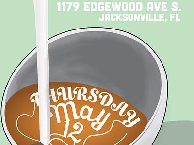 Bold Bean Latte Art Throwdown Poster third wave se3w florida jacksonville throwdown vector latte art coffee illustrator gradient illustration