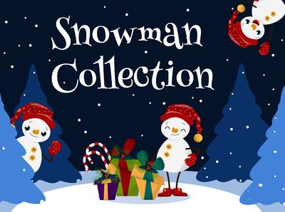 Snowman Collection. Vector clipart