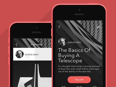 Story view for storytelling social app Storia