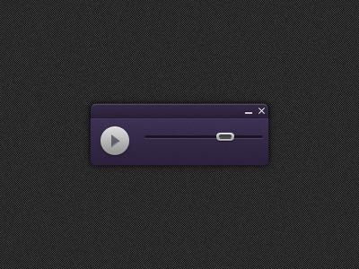 A tiny player screenshot app wip audio player