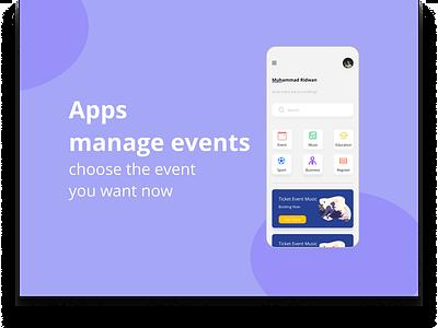 Apps Event app design ui design appdesign design
