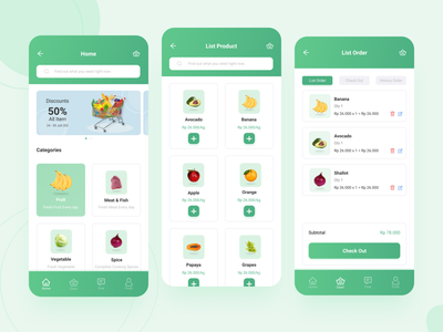 Application Grocery mobiledesign appsgrocery grocery design ui illustration app app design ui design appdesign uiux