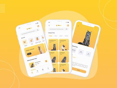 Pet adoption appspetsadoption adoption pets app app design ui design appdesign uiux design ui