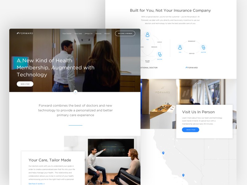 Forward ux ui landing page web design website