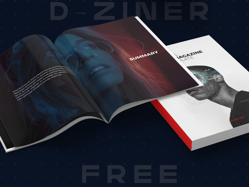 D-Ziner - Free InDesign Template adobe illustrator book booklet catalogue editorial layout free template adobe indesign