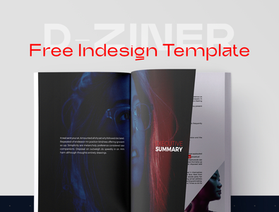 Free InDesign Template - D-Ziner