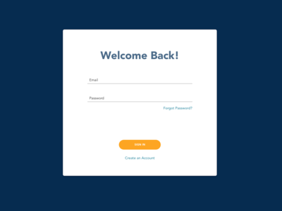 Daily UI - Sign in page