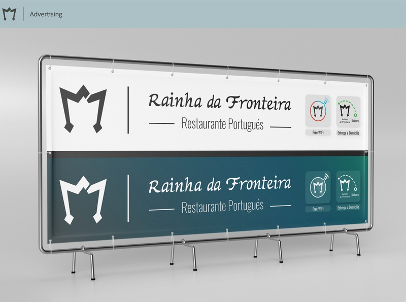 Rainha da Fronteira - Advertising adobe illustrator adobe photoshop ad advertising design graphic typography vector logo branding graphic design design visual identity design restaurant