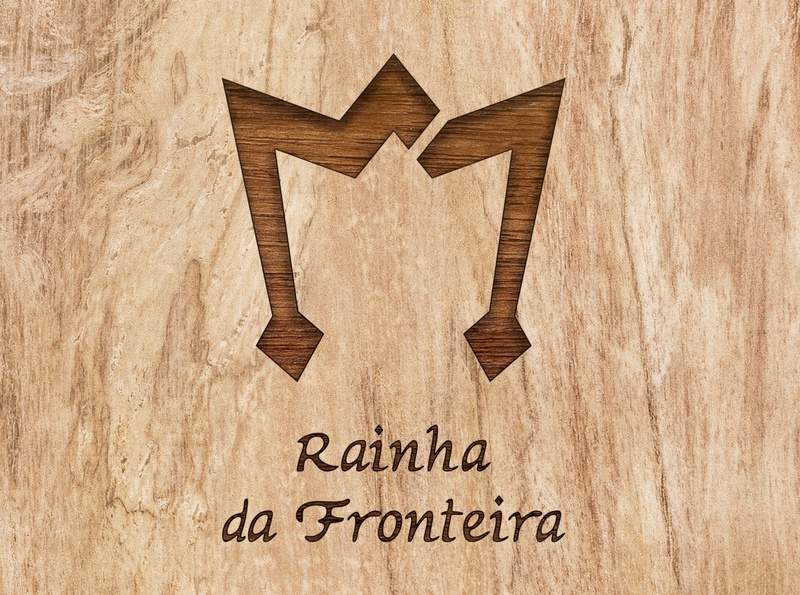 Rainha da Fronteira typography advertising ad branding vector logo graphic design design visual identity design restaurant