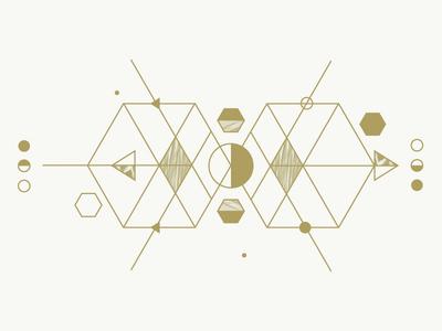 Sombra de sol geometry triangle moon textures gold
