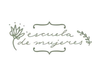 Escuela de mujeres // Logo proposal escuela de mujeres feminine women proposal