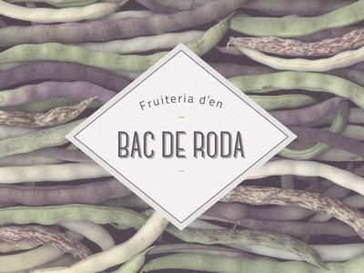 Fruiteria d´en Bac de Roda // Logo proposal vegetables fruits farmers shop proposal logo