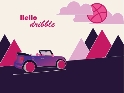 Hello! hello dribbble vector illustration design