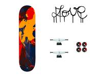 Love skateboard design