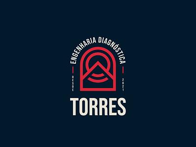 Torres Engenharia Diagnóstica - Versão 2 (conceito) logo concept design concept brand design branding design brand identity logo design branding logo logodesign logotype logo design branding