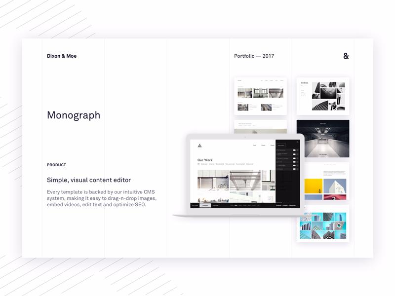PDF Portfolio Page by Alex Dixon for Monograph on Dribbble