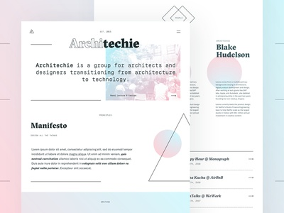 New Architechie Website simplon mono gt sectra responsive typography website