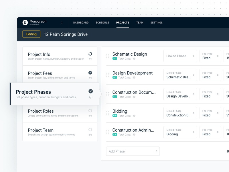 Monograph Project Onboarding product design web design ux ui onboarding interface dashboard