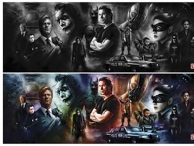 Batman Movie Poster movie poster superhero batman painting illustration