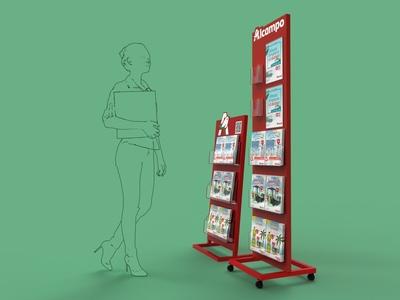 Auchan - Portafolletos PLV 3d plv expositor display design