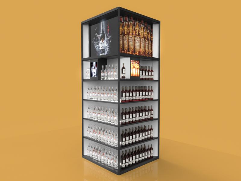 Bacardi - PLV | Retail pop 3d plv expositor display design