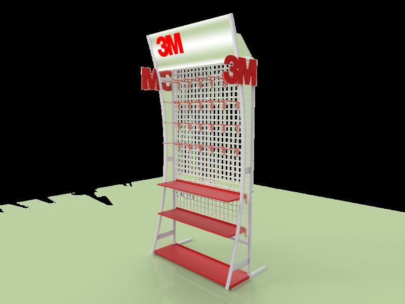 3M Floor Stand Display pop plv expositor display 3d design