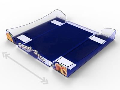 Shelf Tray Caprisun pop plv expositor display 3d design
