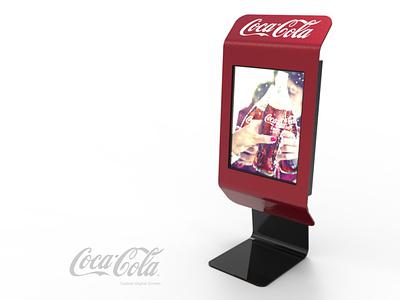 Coca-Cola Cashier Screen plv expositor display 3d design