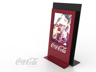 Coca-Cola Cashier Screen pop plv expositor display 3d design