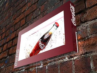 Coca-Cola Luminoso pop plv expositor display 3d design