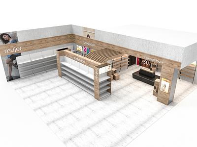 Auchan Clothing Store retail design retail pop plv 3d design
