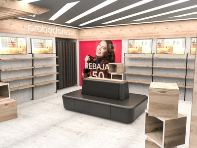 Auchan Clothing Store retail design retail pop 3d design