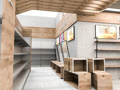 Auchan Clothing Store retail design plv retail pop 3d design