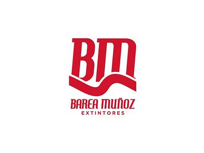 Barea Muñoz Extintores vector logo branding branding and identity design