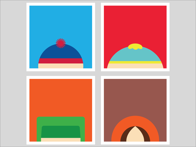 South Park kenny stan cartman kyle series posters flat minimalism southpark comedy
