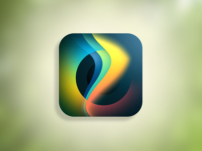 ProCreate Icon Redesign Shot flat app icon branding logo design