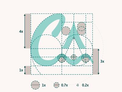 Cannaverde - Logo Grid visual identity grid logo branding process logo mark brand identity waves tent camping construction logo logo design branding logodesign animation