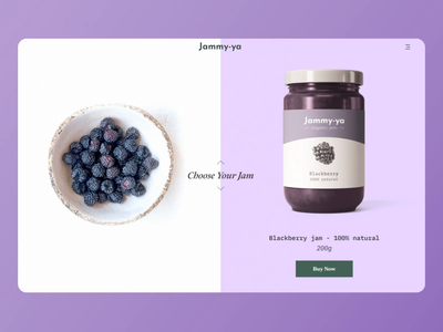 Jammy-ya / Website Concept fruits loop e-commerce mockup ui  ux pastel colors website design webdesign scrolling effect product design webflow colorful animation
