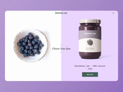 Jammy-ya / Website Concept fruits loop e-commerce mockup ui  ux pastel colors website design webdesign scrolling effect product design webflow colorful animation