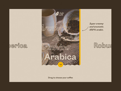 Hola Cafè / Website Interaction Concept figma after effect ui website concept concept design user experience uiux drink menu drink bar e-commerce interaction drag animation loop webdesign slider design website design coffee shop 60fps