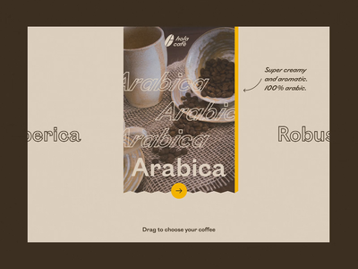 Hola Cafè / Website Interaction Concept figma after effect ui website concept concept design user experience uiux drink menu drink bar e-commerce interaction drag animation loop webdesign slider design website design coffee shop 60fps